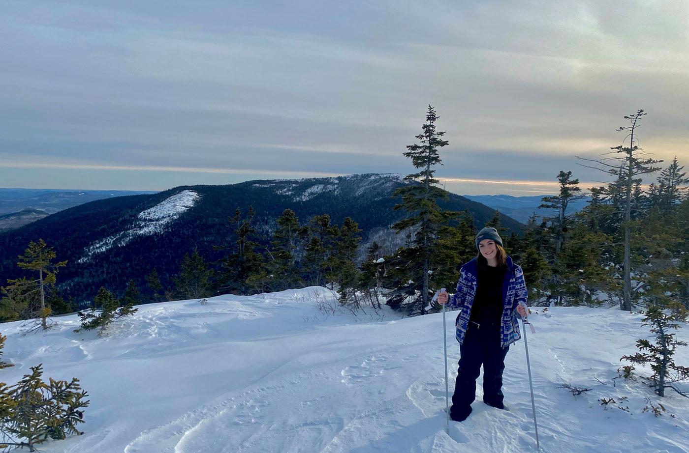 Emily winter hiking