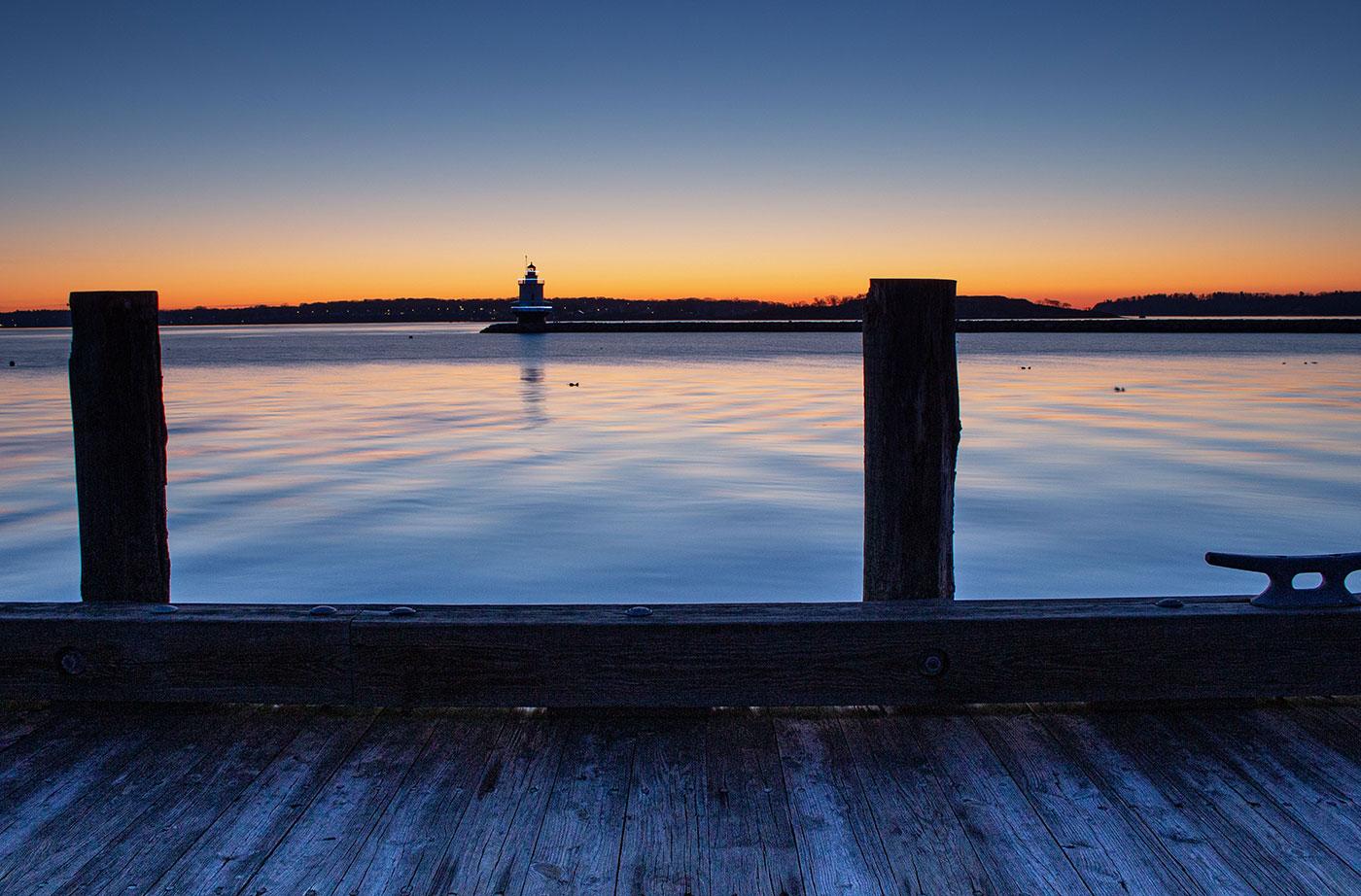 Maine lighthouse at sunrise