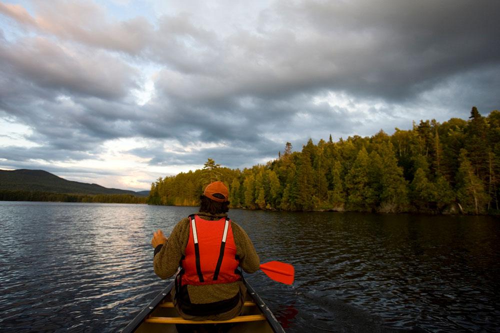 paddling in Moosehead