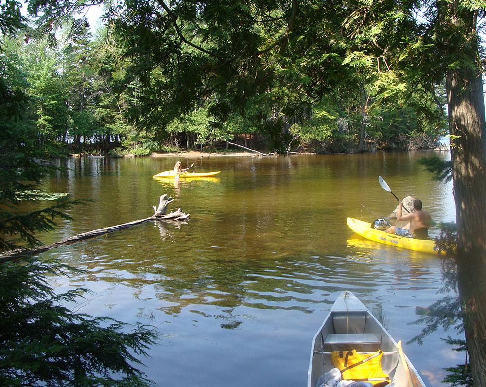 kayaking at Lily Bay