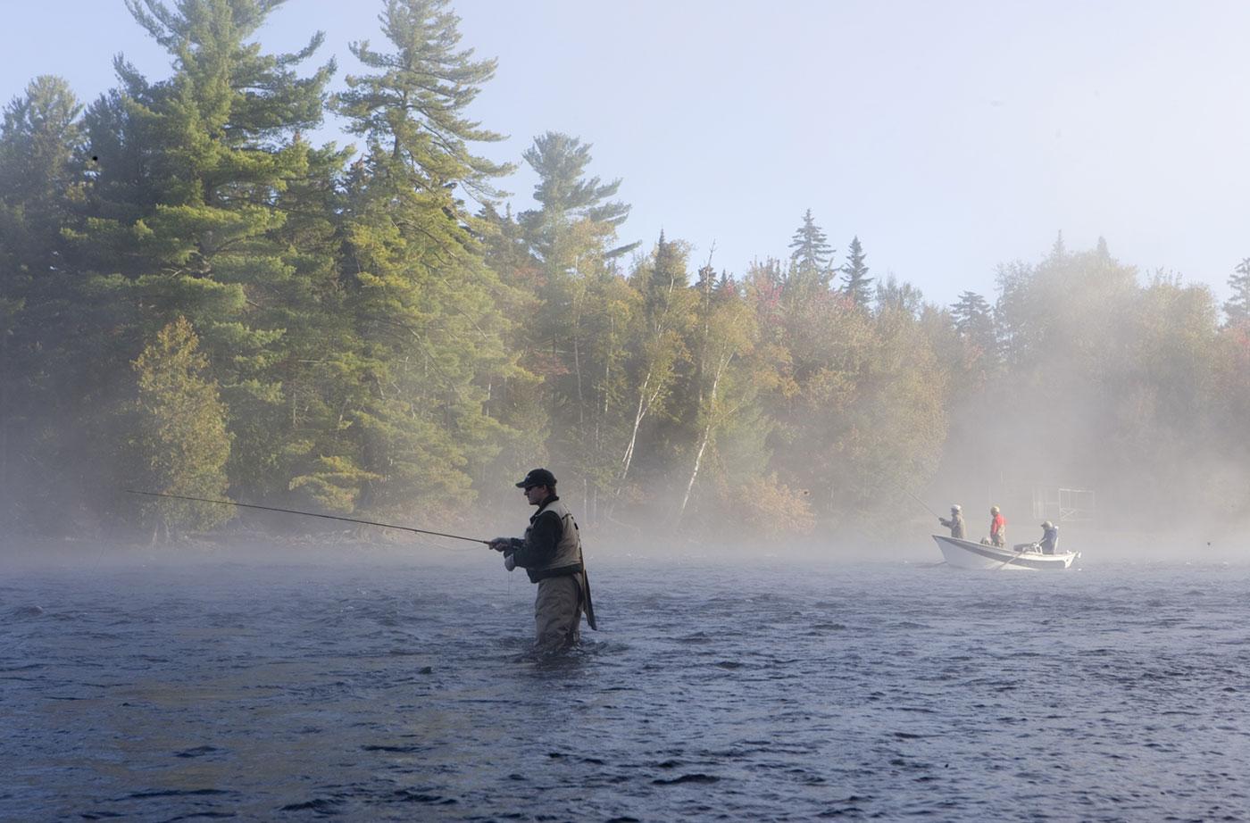 fly fisherman in Moosehead