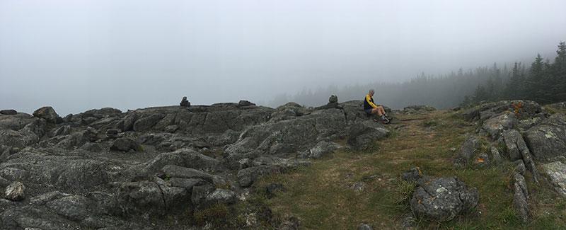 foggy coastal Maine