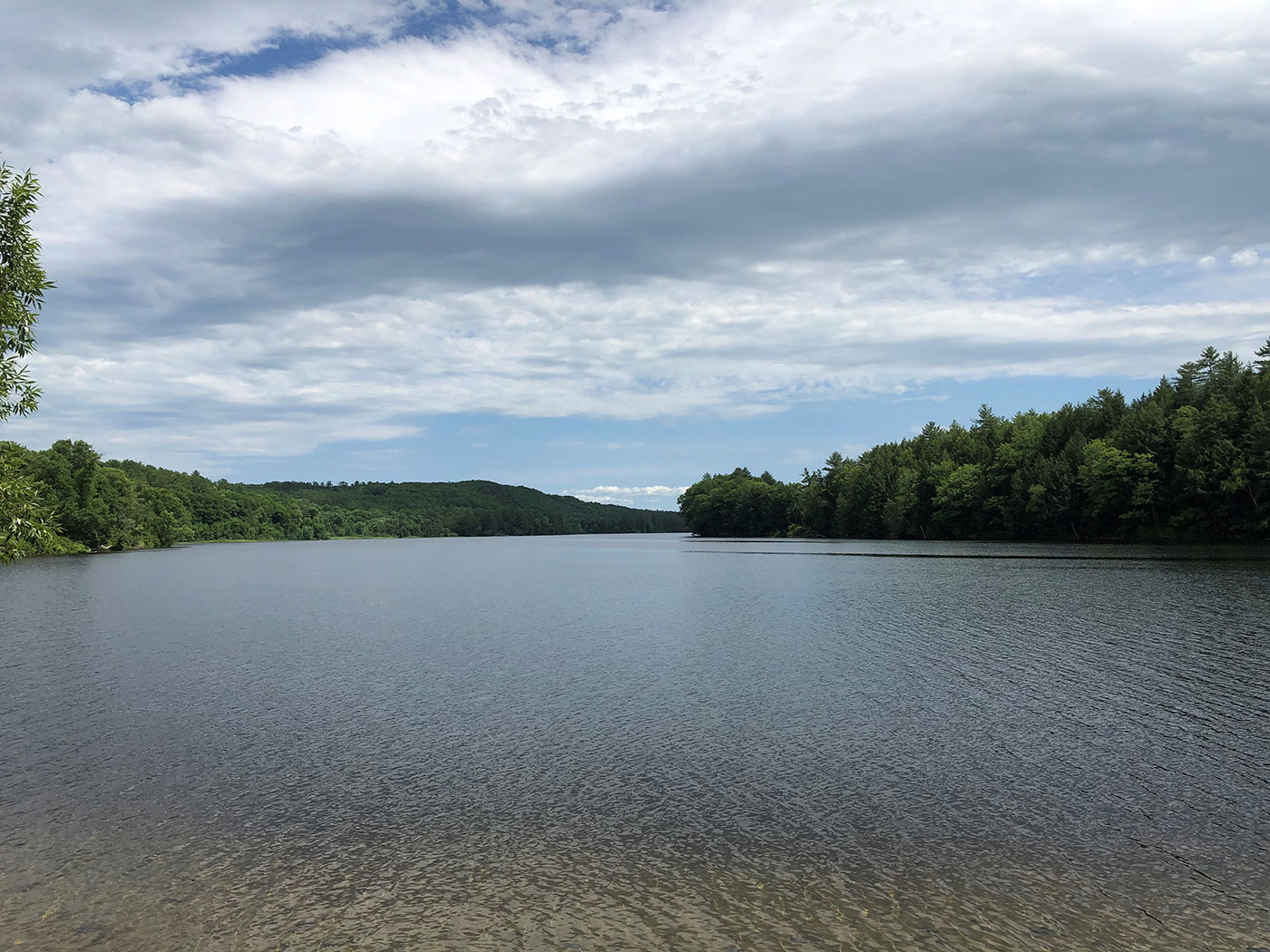 view up Kennebec River
