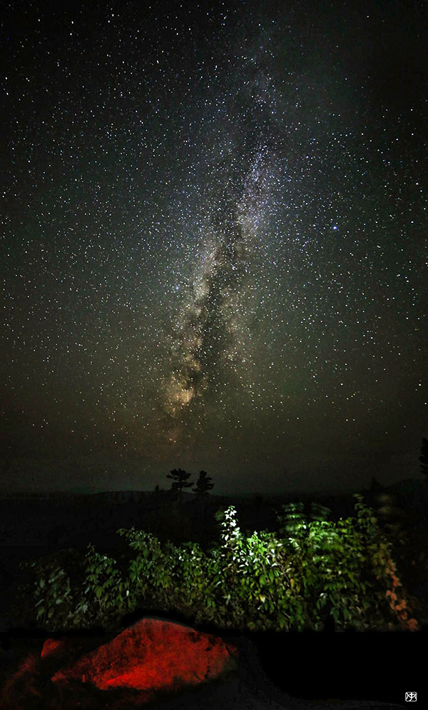 Dark sky over National Monument