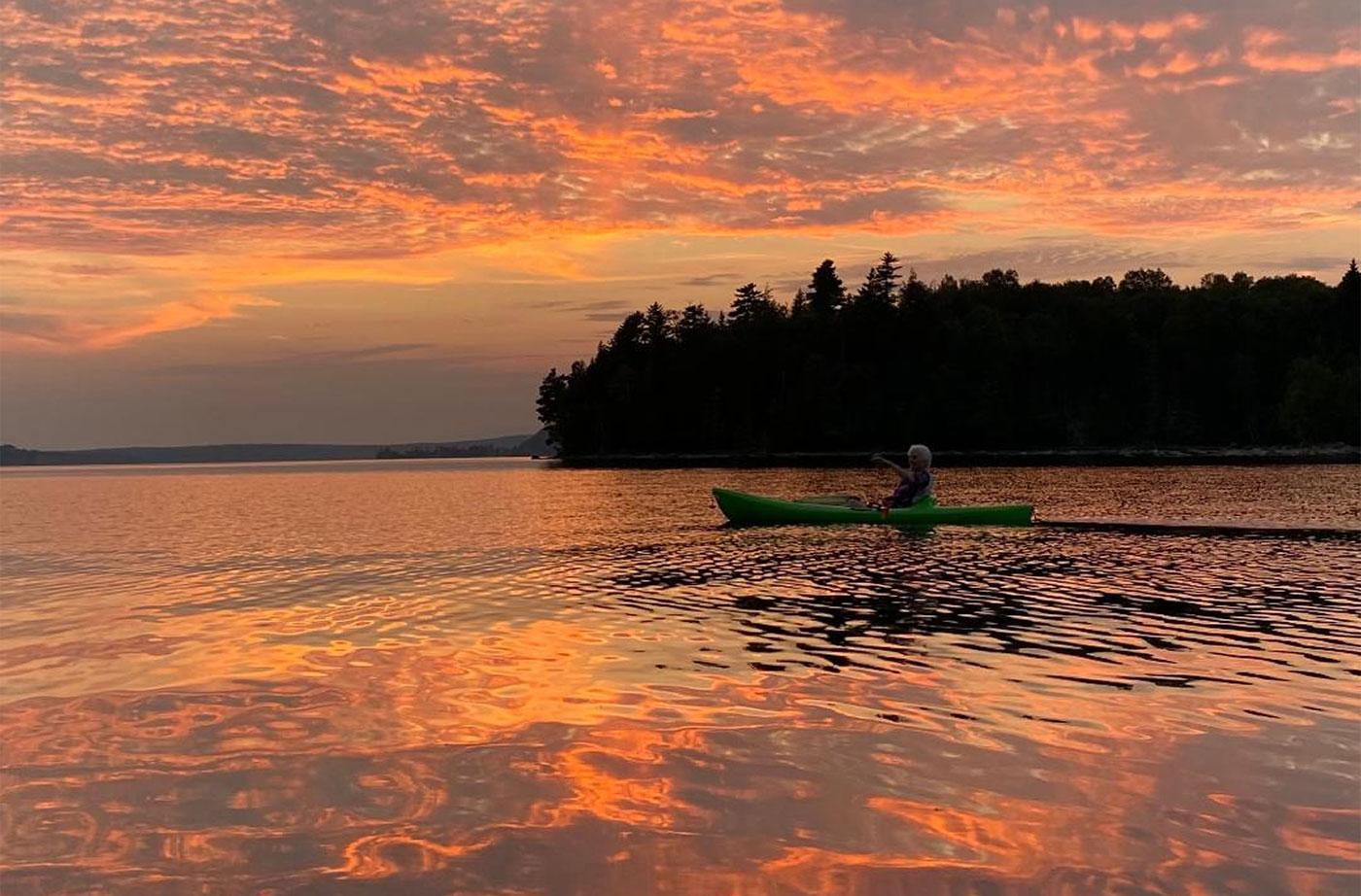 Moosehead Lake canoeist