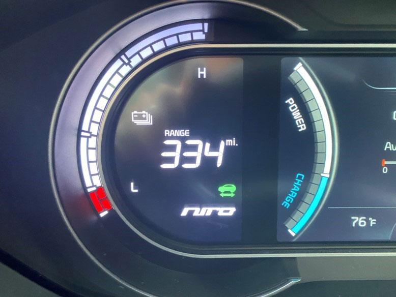 dashboard of electric car