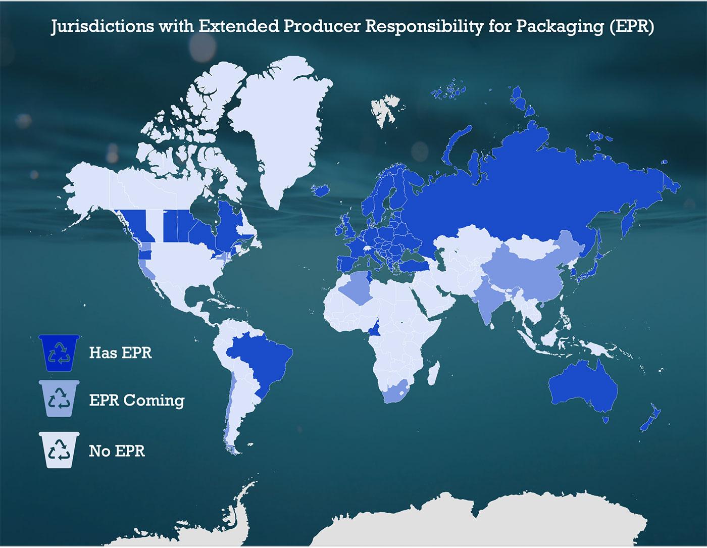 EPR for packaging map