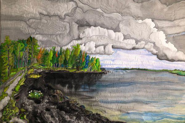 Chamberlain Lake quilted art